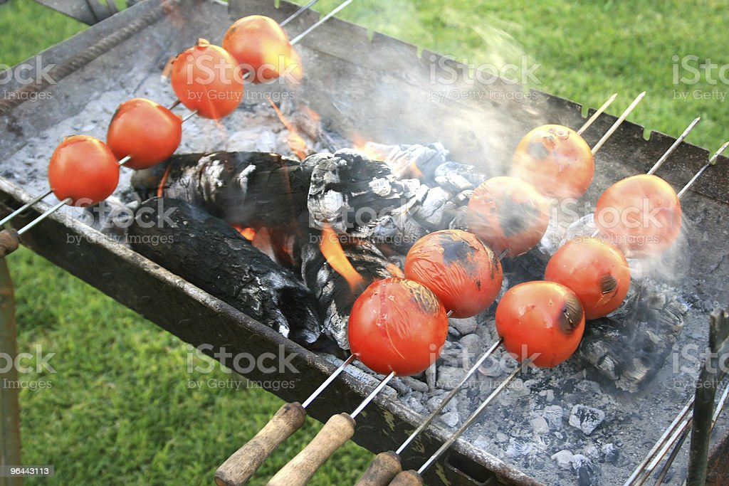 Grilled tomato - Royalty-free Ash Stock Photo
