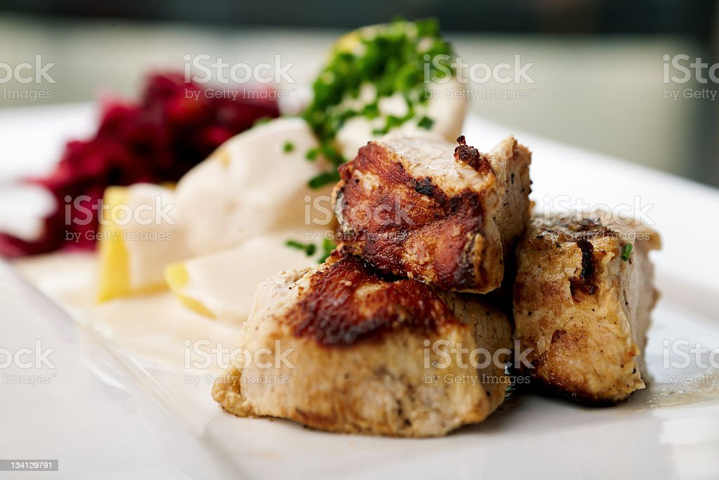 Grilled turkey royalty-free stock photo