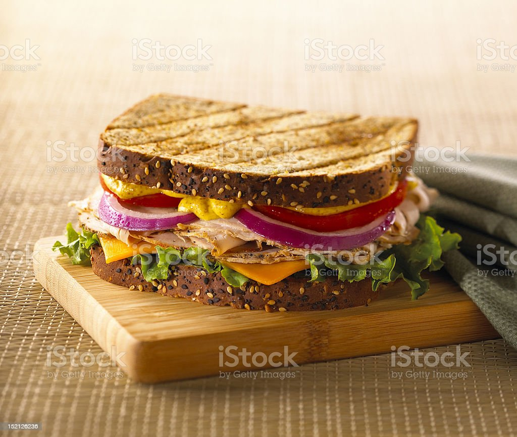 Grilled Turkey Sandwich stock photo