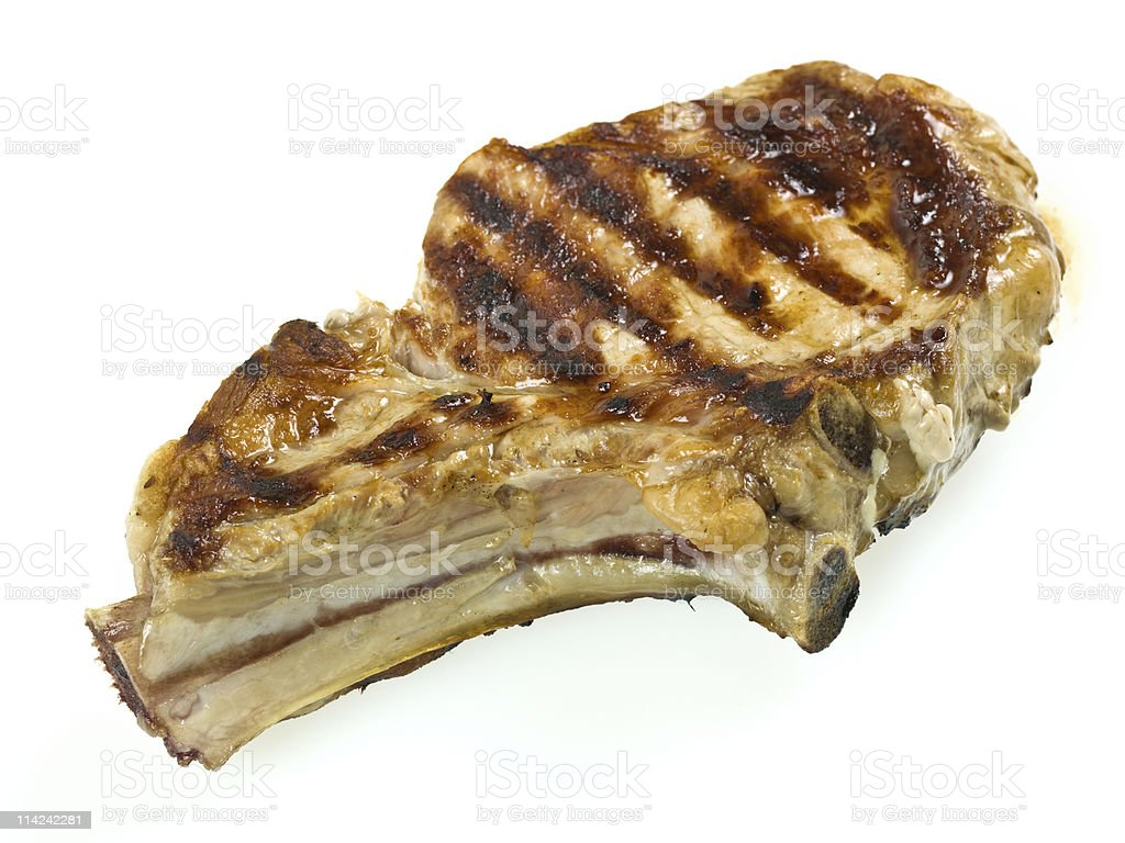Grilled Veal Rib Chop royalty-free stock photo