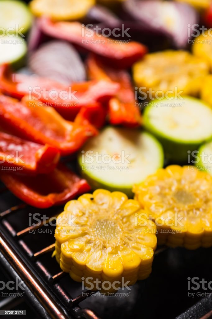 Grilled vegetables on the pan photo libre de droits