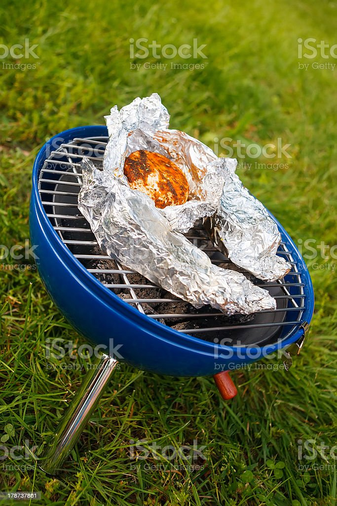 Grilling at summer weekend royalty-free stock photo