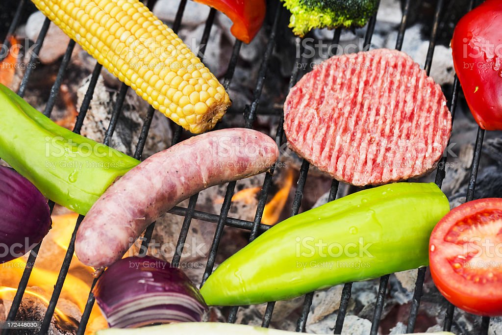 Grilling food royalty-free stock photo