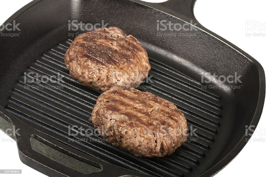 Grilling Hamburgers stock photo