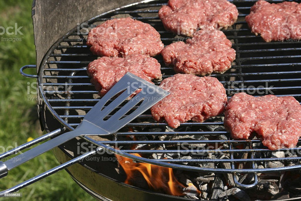 Grill Hamburger foto stock royalty-free