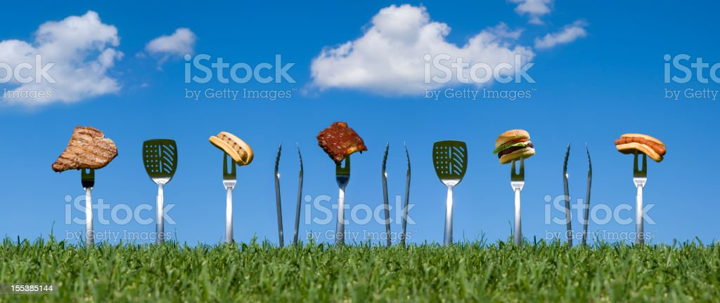 Grilling Out royalty-free stock photo