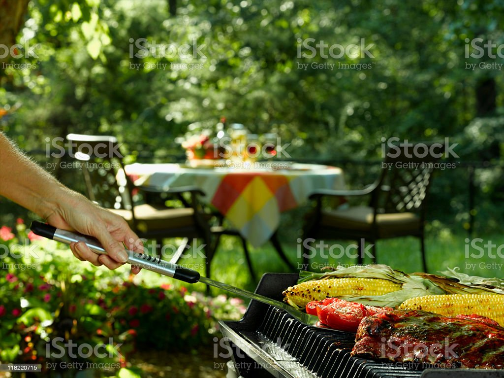 Grilling royalty-free stock photo