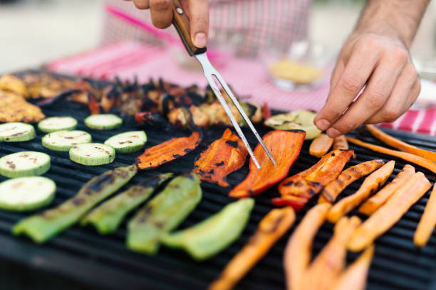 grilling - grilled stock photos and pictures