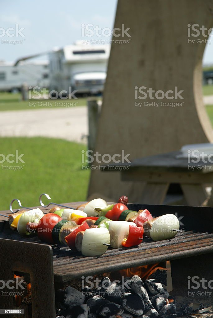 RV Grilling royalty-free stock photo