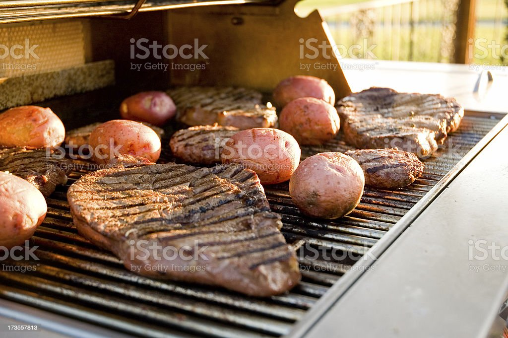 Grilling Steak I royalty-free stock photo