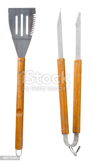 Grilling Tools Isolated On White