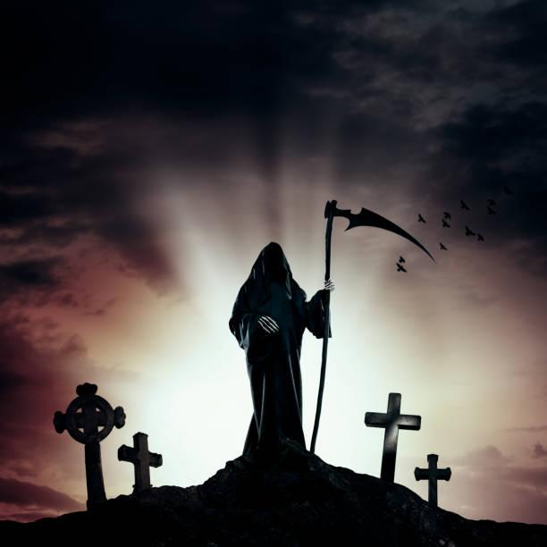 Best Grim Reaper Tombstone Scythe Cemetery Stock Photos ...