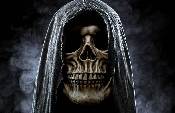 grim reaper - demon fictional character stock photos and pictures