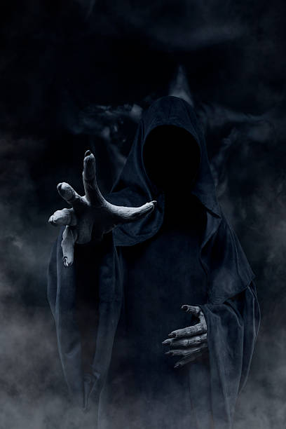 grim reaper - demon stock photos and pictures