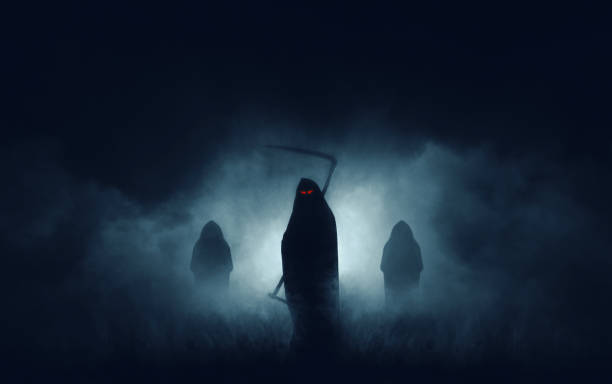grim reaper - horror stock pictures, royalty-free photos & images