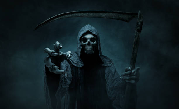 Grim Reaper greift zur Kamera – Foto
