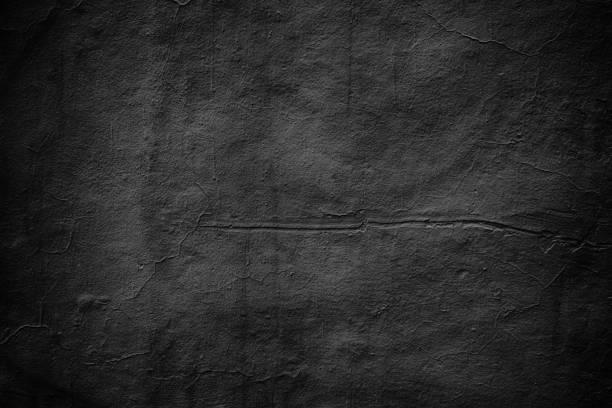 grim wall texture, dark background black cement stock photo