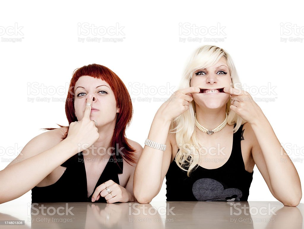Grimacing royalty-free stock photo