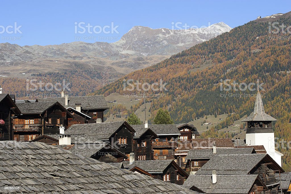 Grimentz royalty-free stock photo
