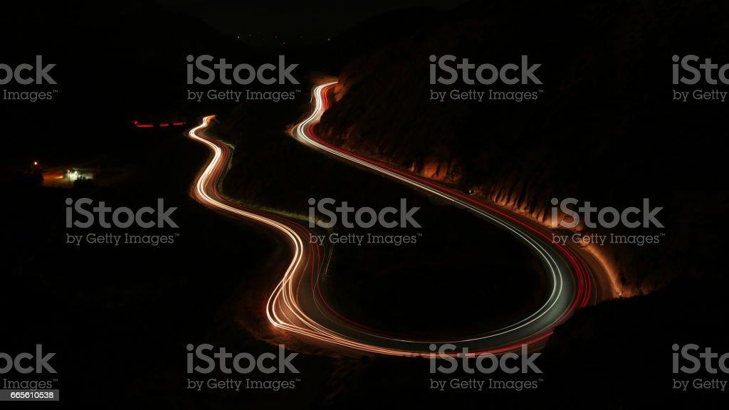 Grimes Canyon California at night 4k stock photo