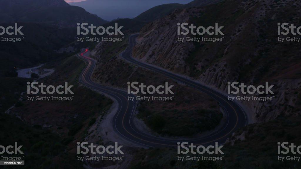 Grimes Canyon California at sunset/night 4k stock photo