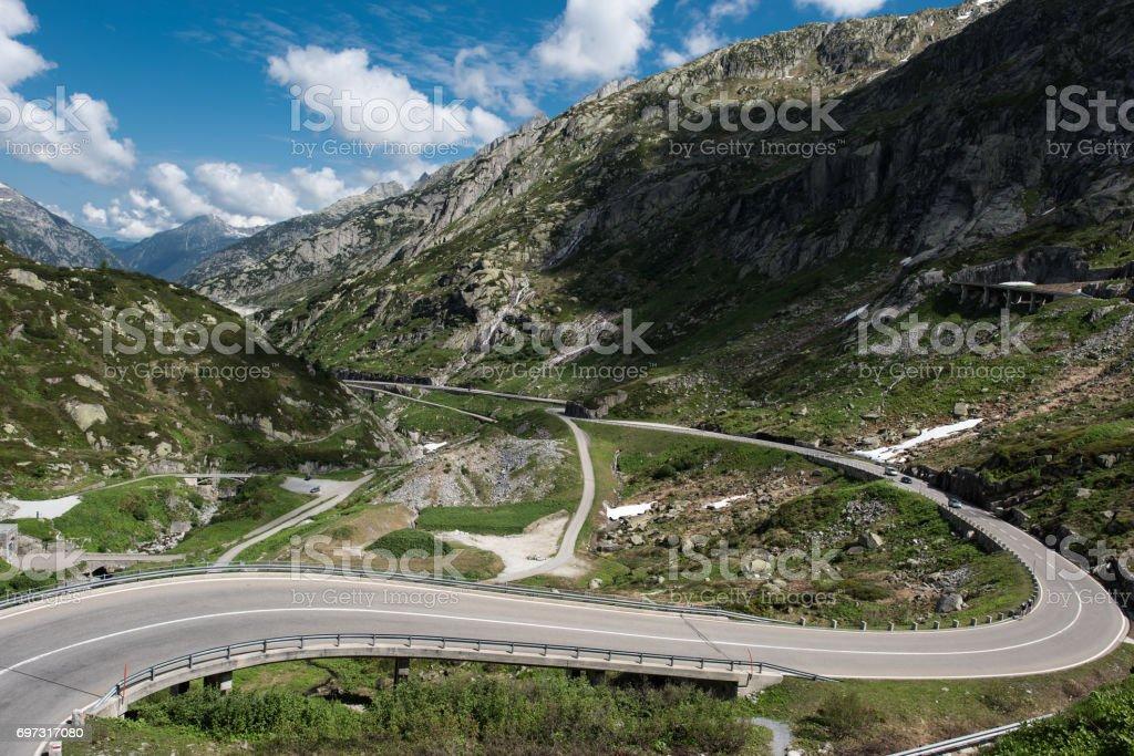 Grimselpass switzerland stock photo