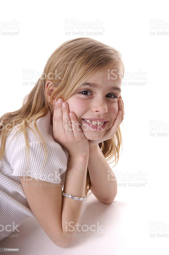 grin on elbows royalty-free stock photo