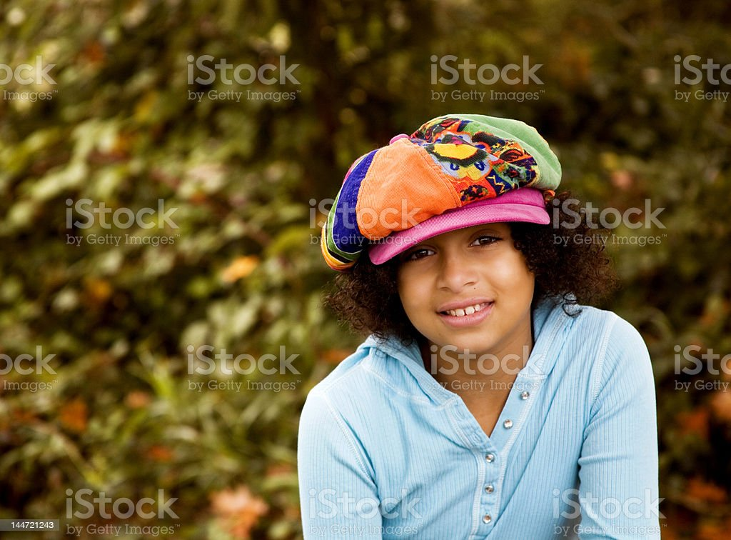 Grin the Cool Hat royalty-free stock photo
