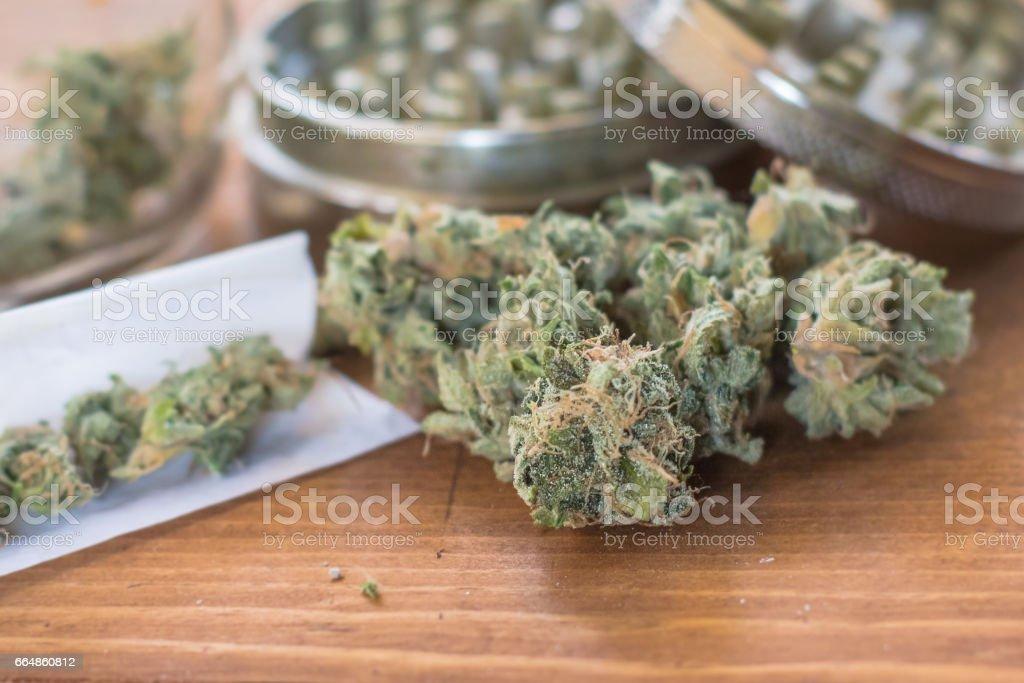 Grind, Roll, Smoke stock photo