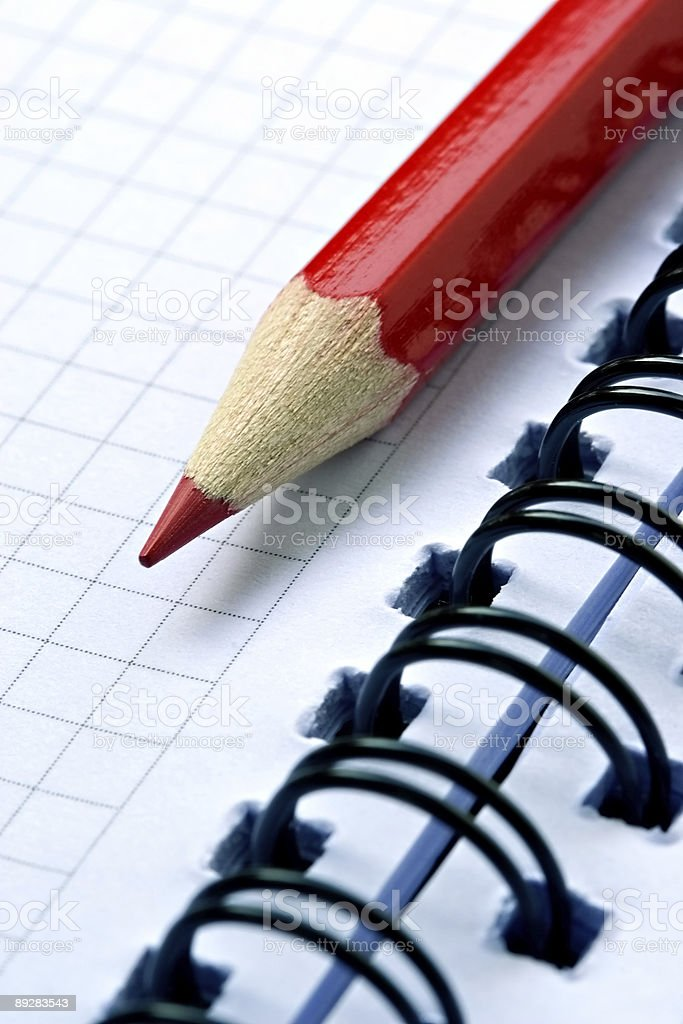 Grinded red pencil royalty-free stock photo
