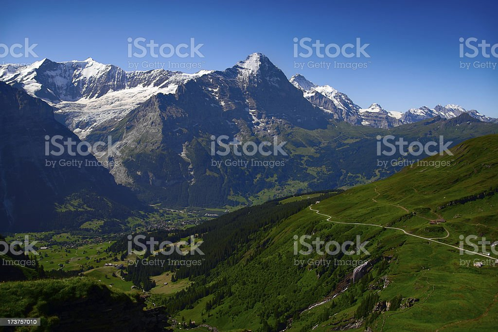 Grindelwald and Eiger North Face royalty-free stock photo