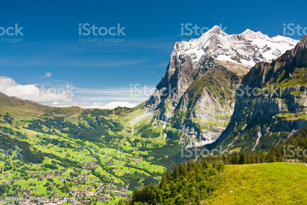 Grindelwald And Wetterhorn, Swiss Alps royalty-free stock photo