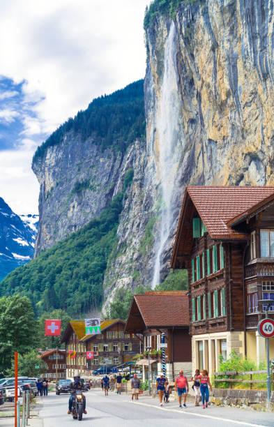 Grindelwald Valley, Switzerland stock photo