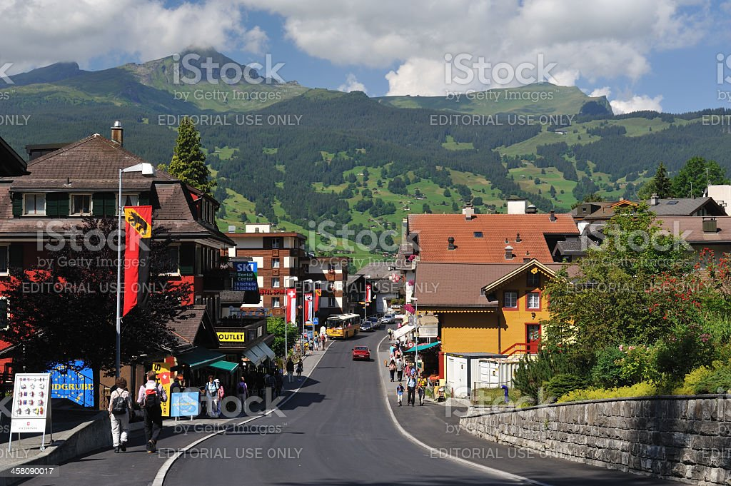 Grindelwald Village royalty-free stock photo
