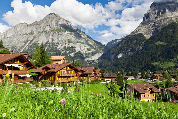 Grindelwald village, Switzerland stock photo