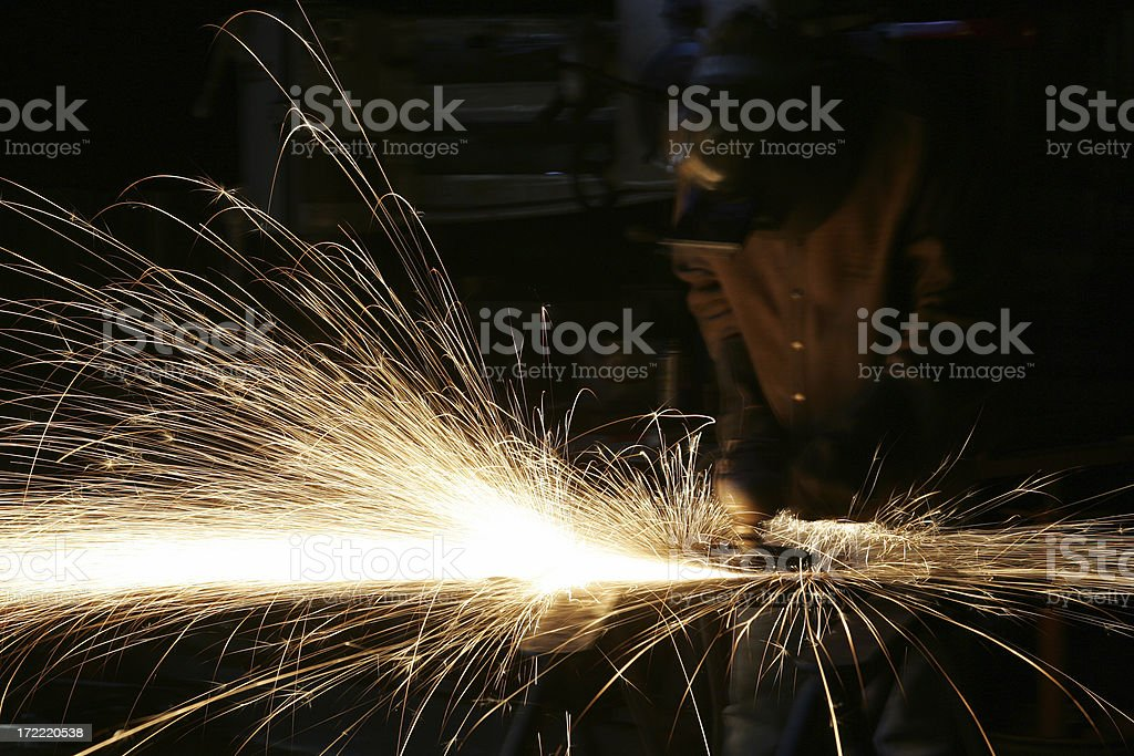 Grinder Man royalty-free stock photo