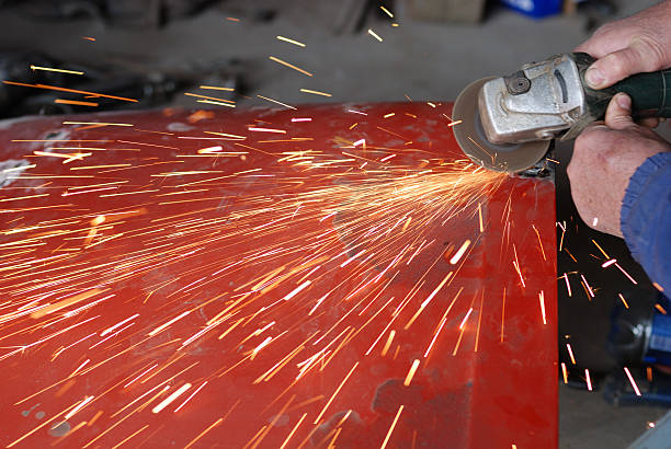grinder - auto body repair stock photos and pictures