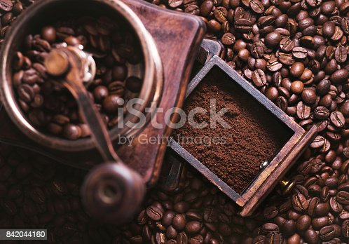 842365806 istock photo Grinding Coffee Manually 842044160