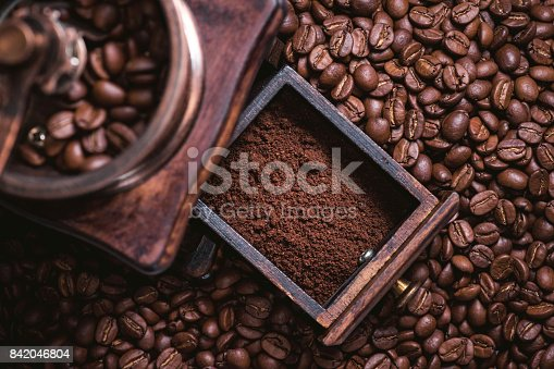 842365806 istock photo Grinding Coffee Manually 842046804