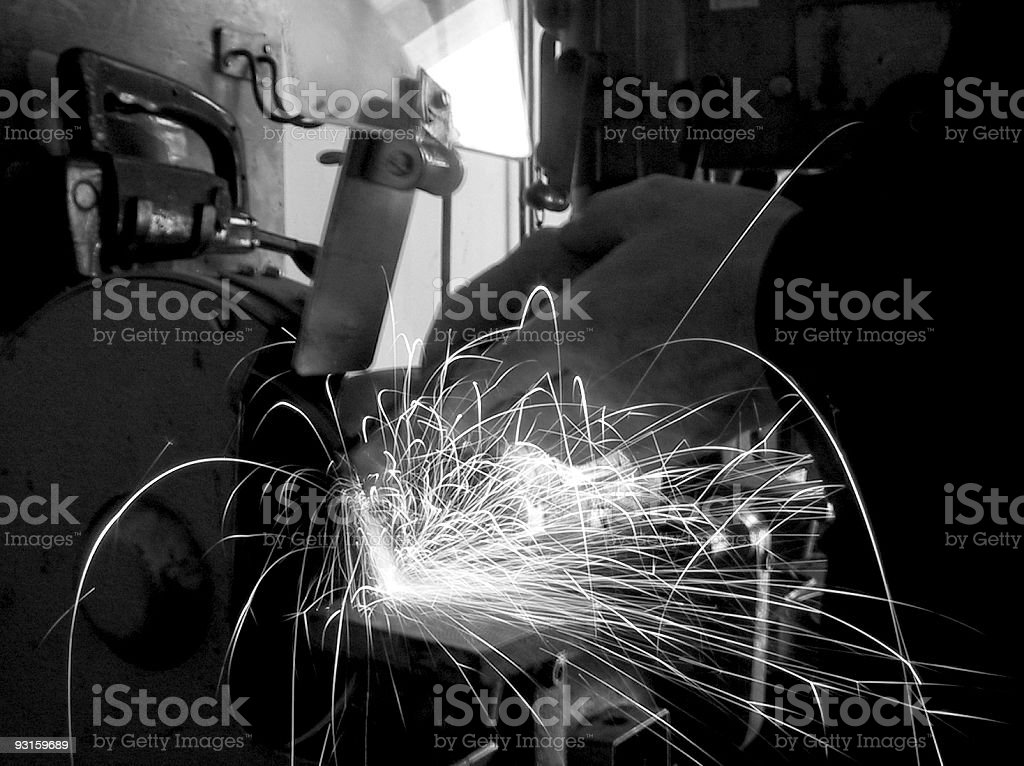 Grinding hands royalty-free stock photo