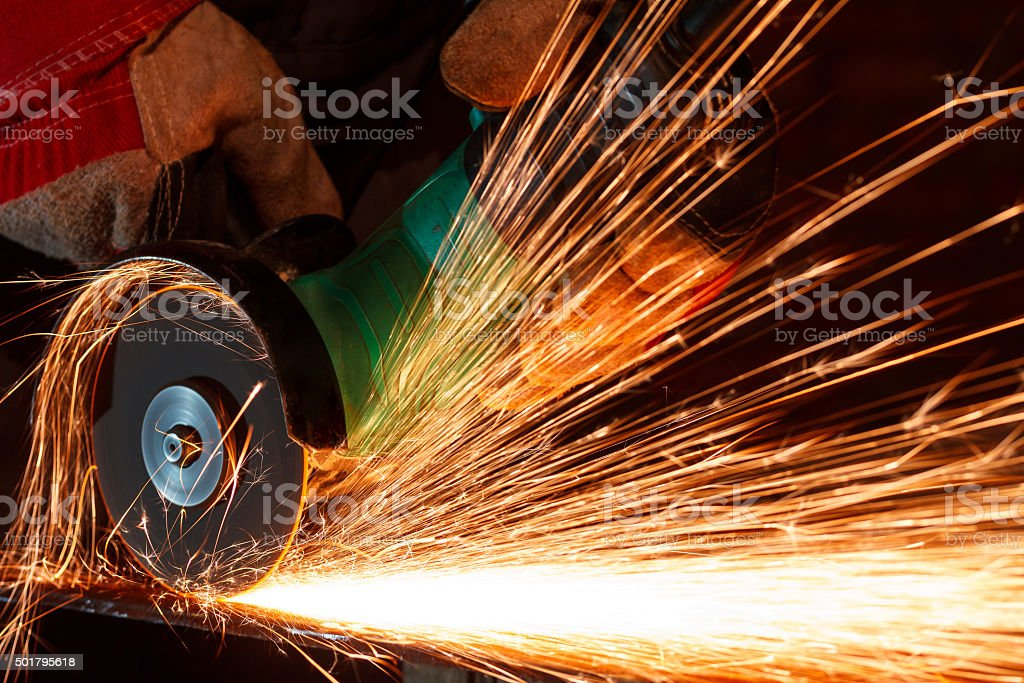 Grinding iron stock photo