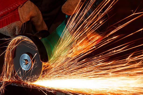 Esmerilado de hierro - foto de stock
