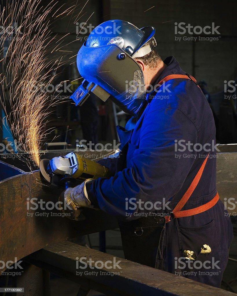 Grinding Metal royalty-free stock photo
