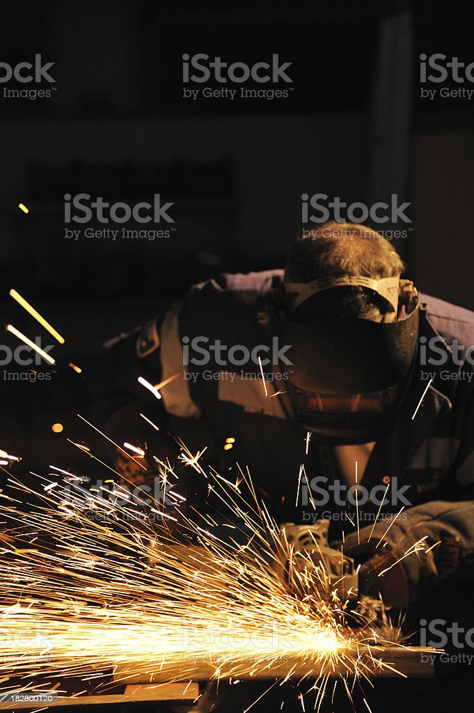 Grinding Sparks royalty-free stock photo