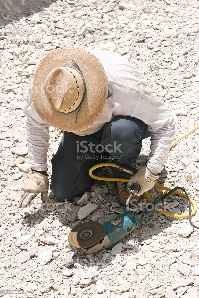 Grinding the Chisels royalty-free stock photo