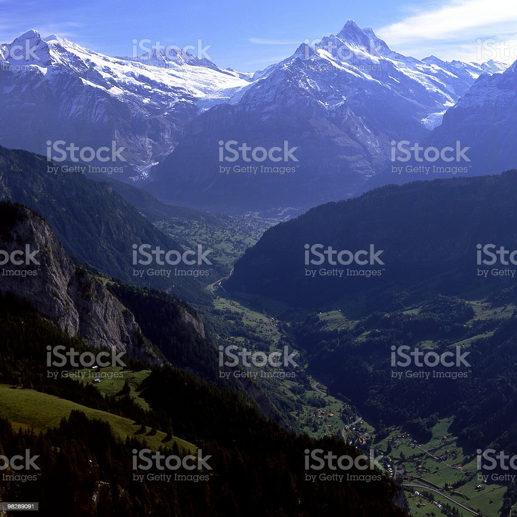 Grindlewald Valley in the Bernese Oberland of Switzerland royalty-free stock photo