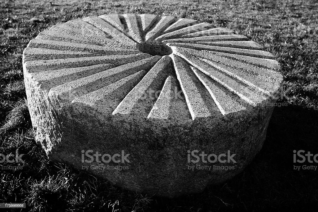 Grindstone stock photo