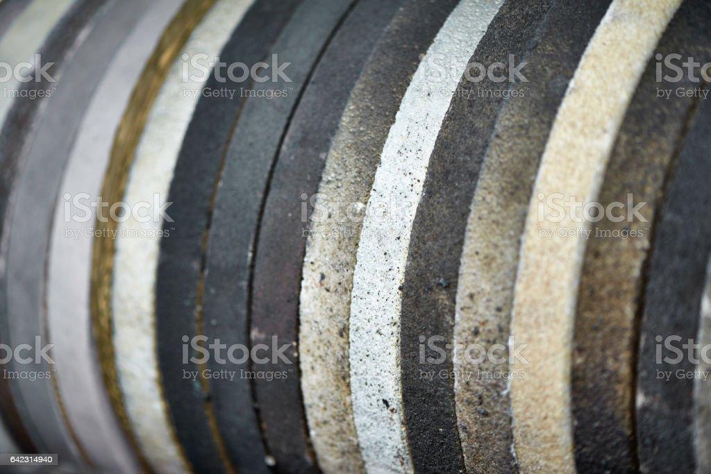 Grindstone wheel stock photo