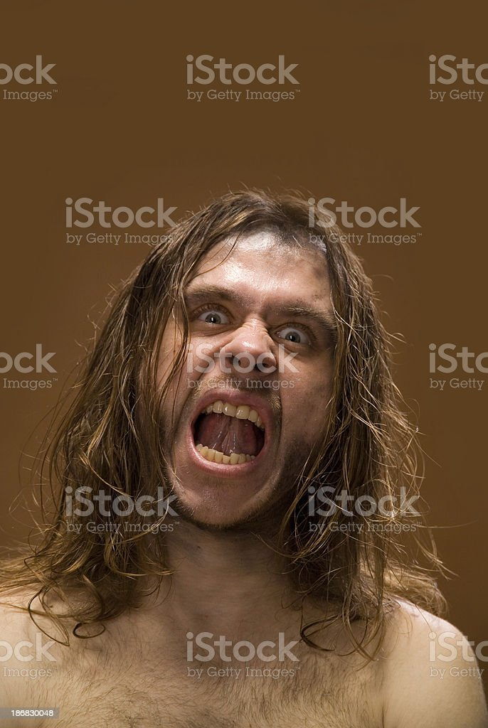 Grinned man stock photo