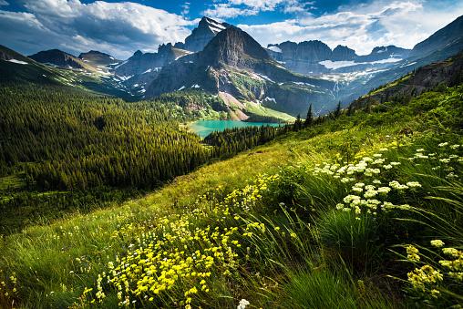 Lake, Mountain, Rock - Object, Rocky Mountains, Summer